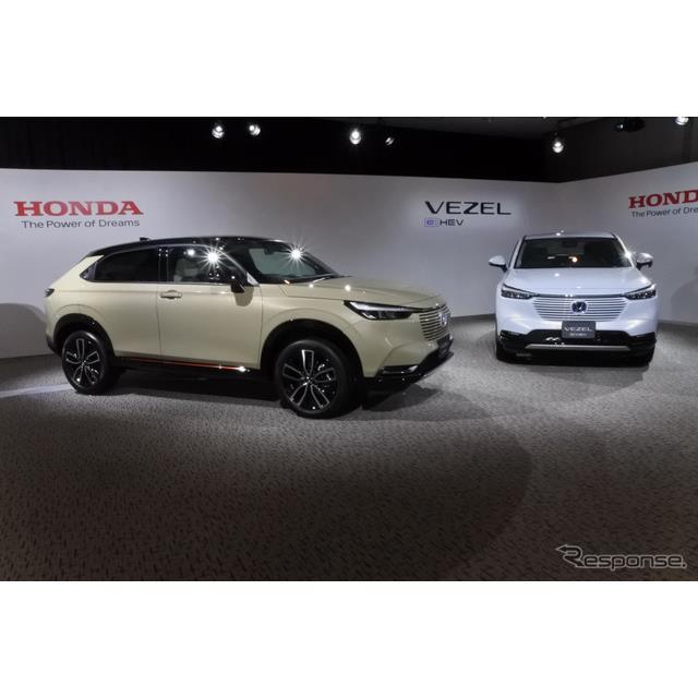 ホンダの安部典明常務執行役員日本本部長は4月23日に発売する新型『ヴェゼル』の事前受注が1万7000台に達し...