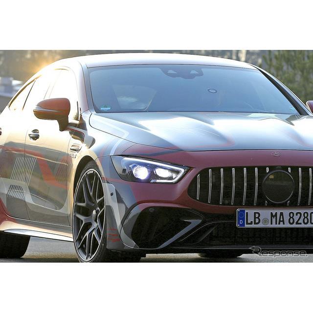 メルセデスベンツは現在、AMG『GT 4ドア』の改良新型を開発していると見られるが、その頂点に君臨するAMG『...
