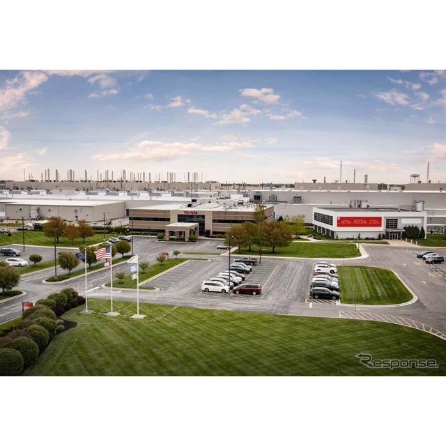 トヨタ自動車(Toyota)の米国部門は4月28日、米国インディアナ州のトヨタ・モーター・マニュファクチャリ...