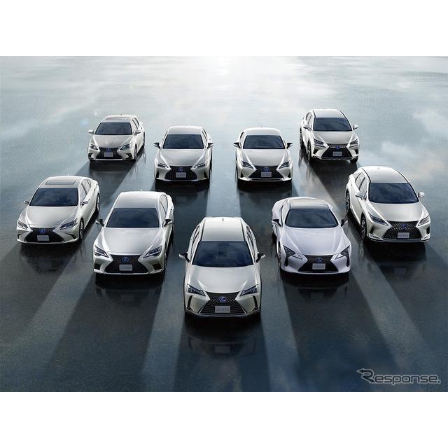 レクサスは、2021年4月末に電動車の全世界累計販売台数200万台を達成したと発表した。  レクサスは2005年...