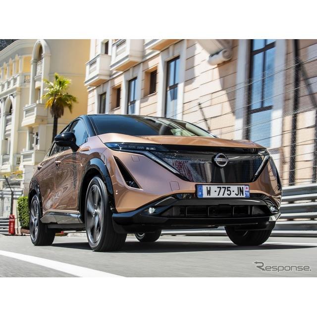 日産自動車の欧州部門は5月24日、新型EVの『アリア』(Nissan Ariya)が初の一般向け走行をモナコの市街地...