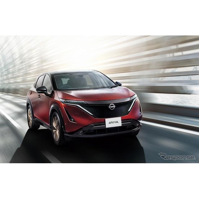 日産自動車は6月4日、新型クロスオーバーEV『アリア』の日本専用特別限定車「アリア・リミテッド」を発表、...