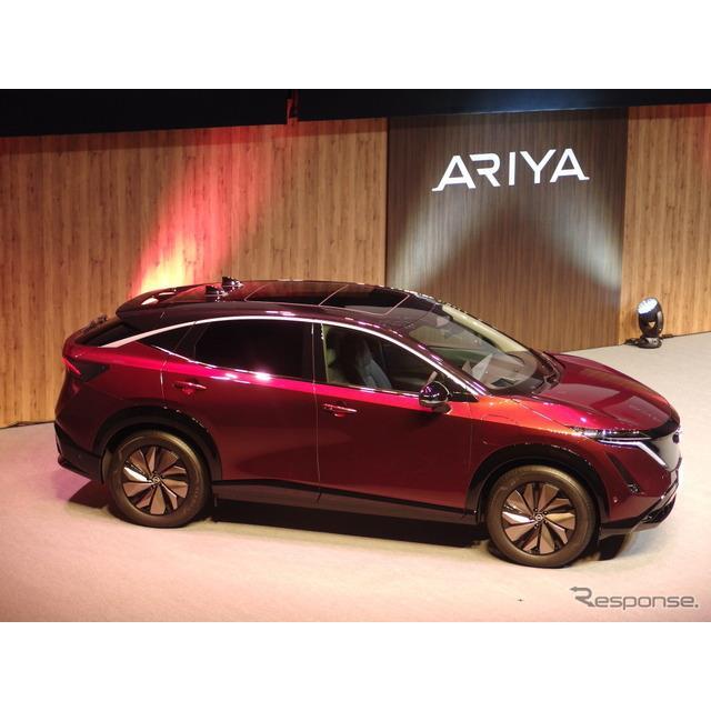 日産自動車は4日、新型クロスオーバーEV『アリア』の日本限定仕様「アリア・リミテッド」を発表した。同日...