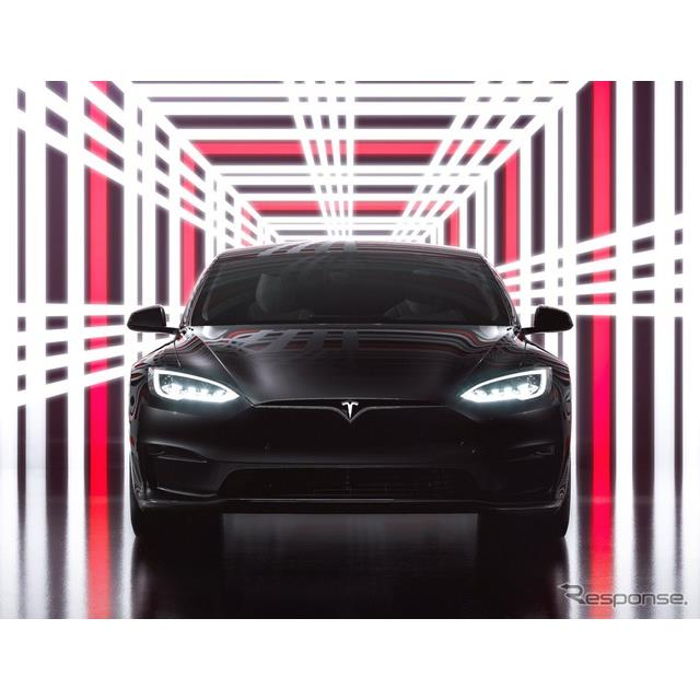 テスラは6月8日、改良新型『モデルS』(Tesla Model S)の高性能グレード、「プラッド」の発売イベントを6...