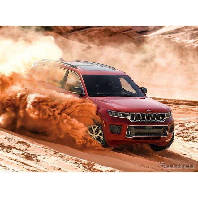 ジープブランドは6月7日、新型『グランドチェロキーL』(Jeep Grand Cherokee L)を6月中に米国市場で発売...