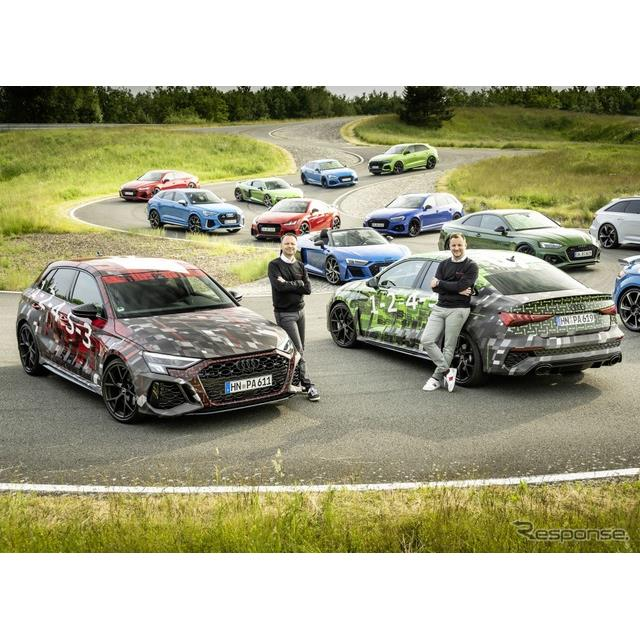 アウディ(Audi)は6月10日、新型『RS3スポーツバック』と新型『RS3セダン』のプロトタイプの写真を公開し...