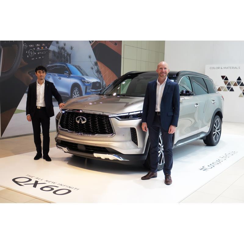 日産自動車は2021年6月24日、ラージサイズSUVの新型「インフィニティQX60」を発表した。  細かなつくり込...