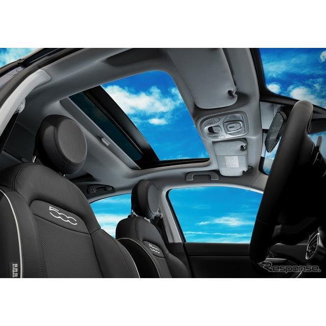 FCAジャパンは、フィアットのコンパクトクロスオーバーSUV『500X』に、特別なボディカラーやサンルーフを装...