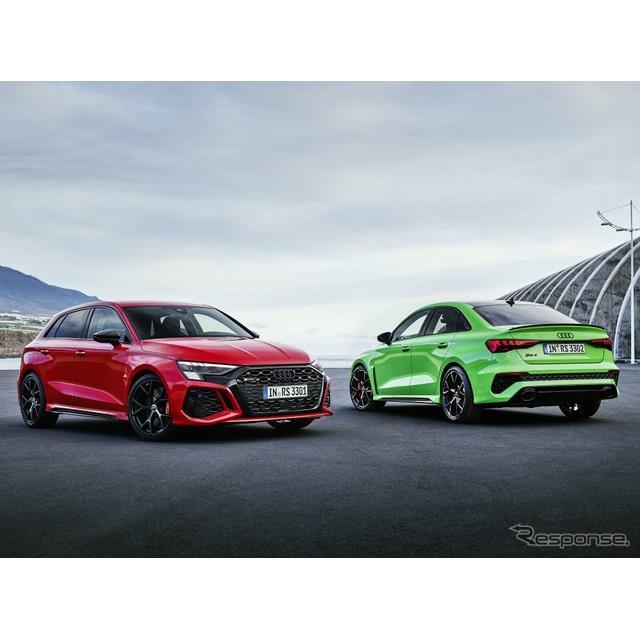 アウディ(Audi)は7月22日、新型『RS3スポーツバック』と新型『RS3セダン』の受注を欧州で開始した。ドイ...