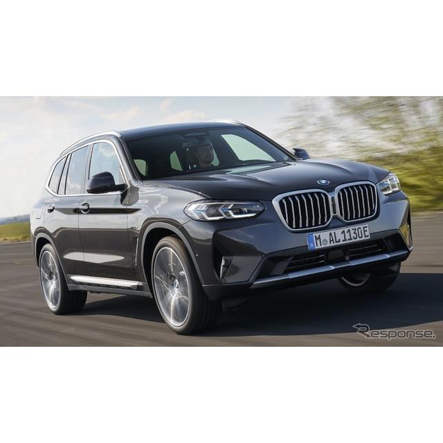 BMWは7月28日、ドイツで9月に開催される「IAAモビリティ2021」において、改良新型『X3』の実車を初公開する...