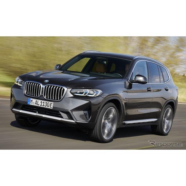 BMWは、9月にドイツで開催されるIAAモビリティ2021において、改良新型『X3』のプラグインハイブリッド車(P...