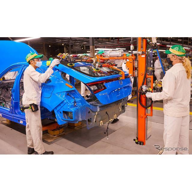 ホンダの米国部門は9月20日、新型『シビックハッチバック』(Honda Civic Hatchback)の生産を、インディア...