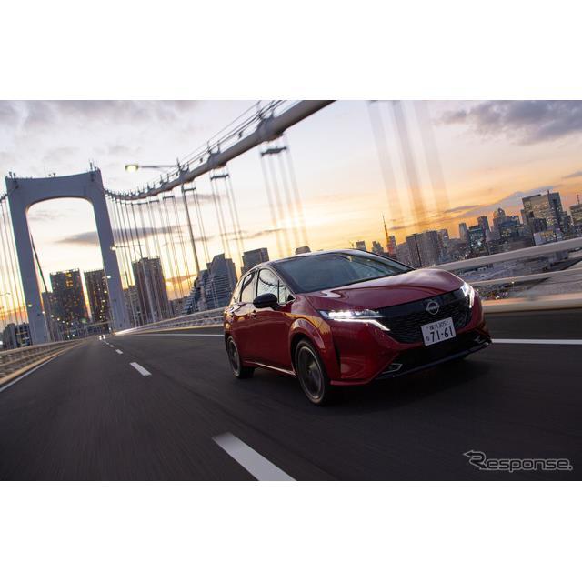 日産自動車がe-POWERを搭載し人気の高い「NOTE(ノート)」をベースに、より高級感のある外装やインテリア...