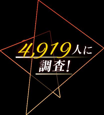 4,919人に調査!