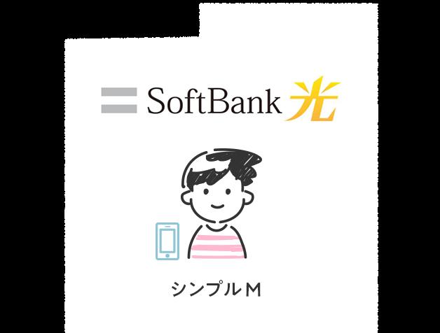 光回線がSoftBank 光で、ワイモバイルのシンプルMを利用している場合