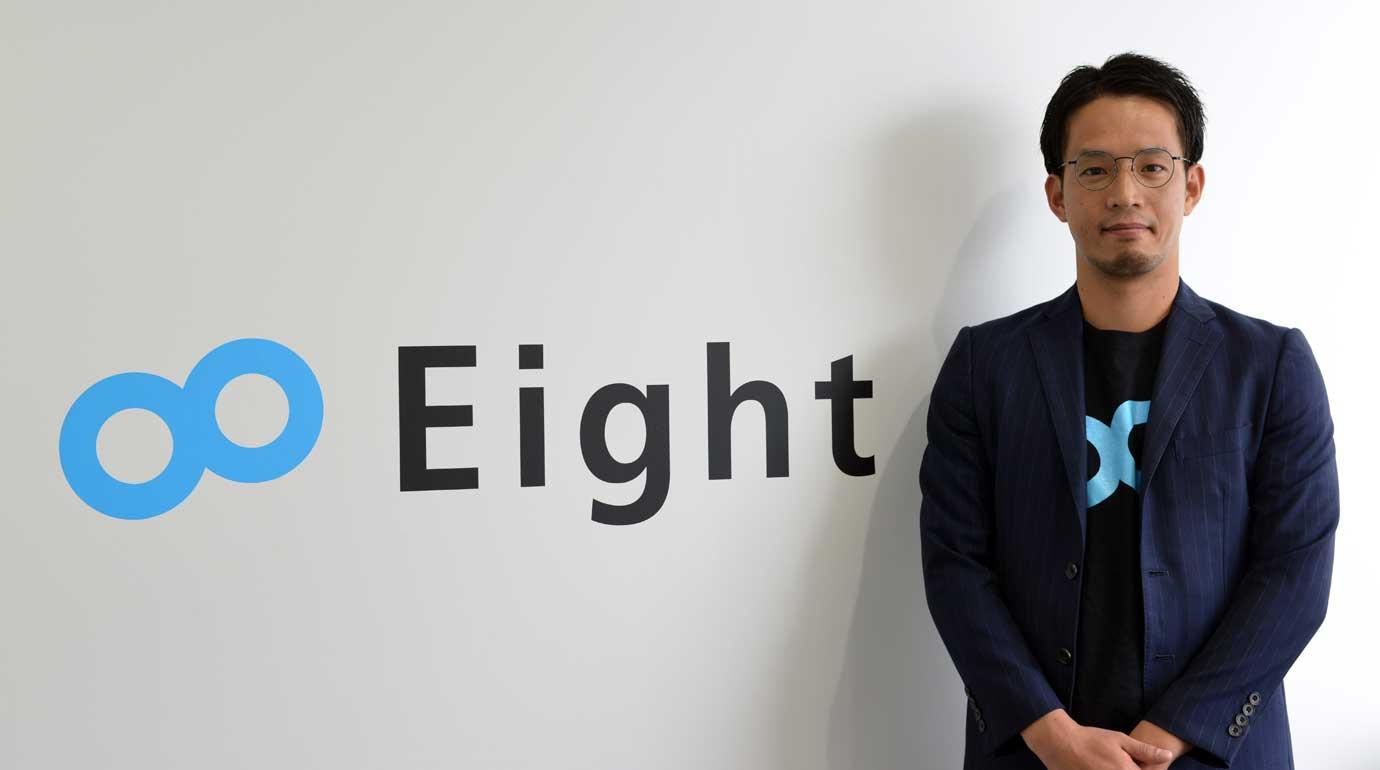 今回お話を伺ったSansan株式会社Eight事業部 Corporate Solutions Group 盛本篤氏。
