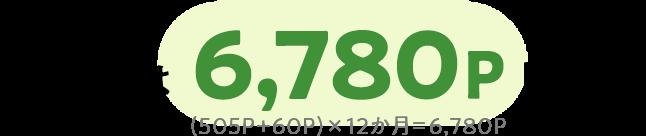 1年間では6,780ポイント貯まる!