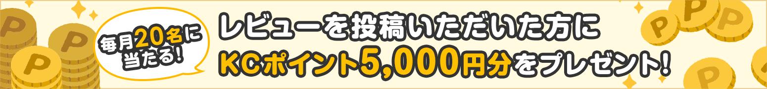 レビューを投稿いただいた方に価格.comポイント5,000円分をプレゼント!