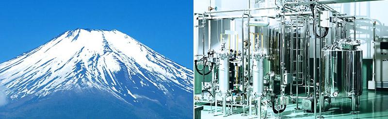 ミネラルを豊富に含む富士山の天然水
