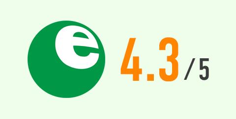 省エネ性マーク(緑)と多段階評価点