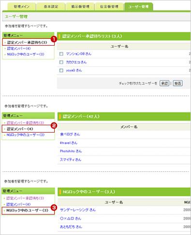 管理画面「ユーザー管理」の使い方 説明図