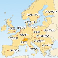スイスフラン(CHF)地図