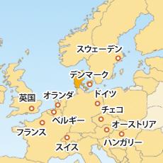 デンマーククローネ(DKK)地図