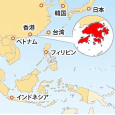 香港ドル(HKD)地図