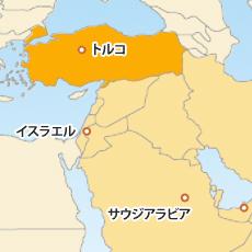 トルコリラ(TRY)地図