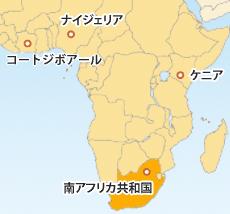 南アフリカランド(ZAR)地図