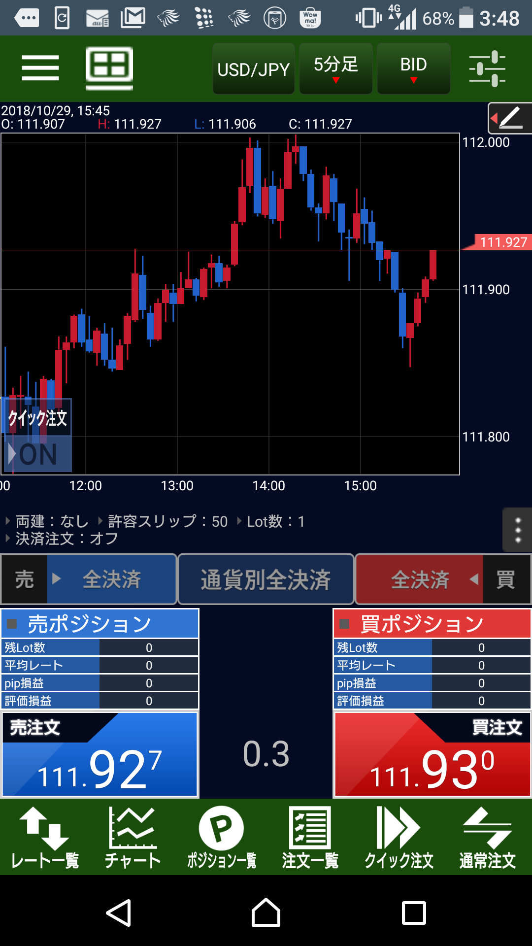 MATRIX TRADER Android版アプリ