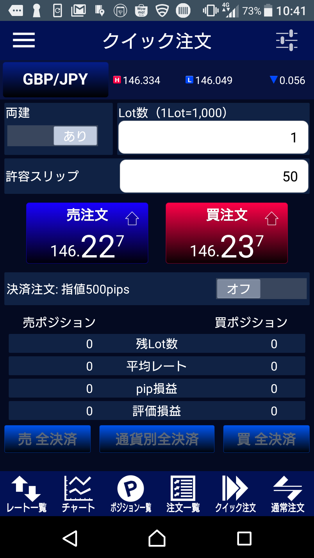 LION FX Androidアプリ
