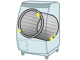 いつもきれいに使いたい人は、洗濯槽を清潔に保つ自動おそうじ機能を