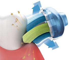 高速・微細なブラシの振動で、効果的な歯磨きが可能