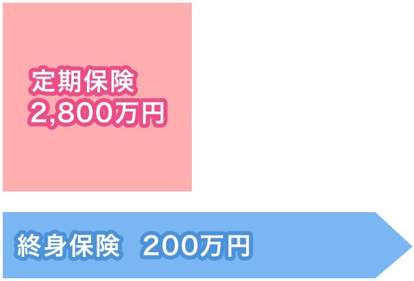 万一があった場合(必要保障額:3000万円)図