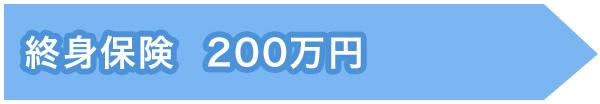 万一があった場合(必要保障額:200万円)図