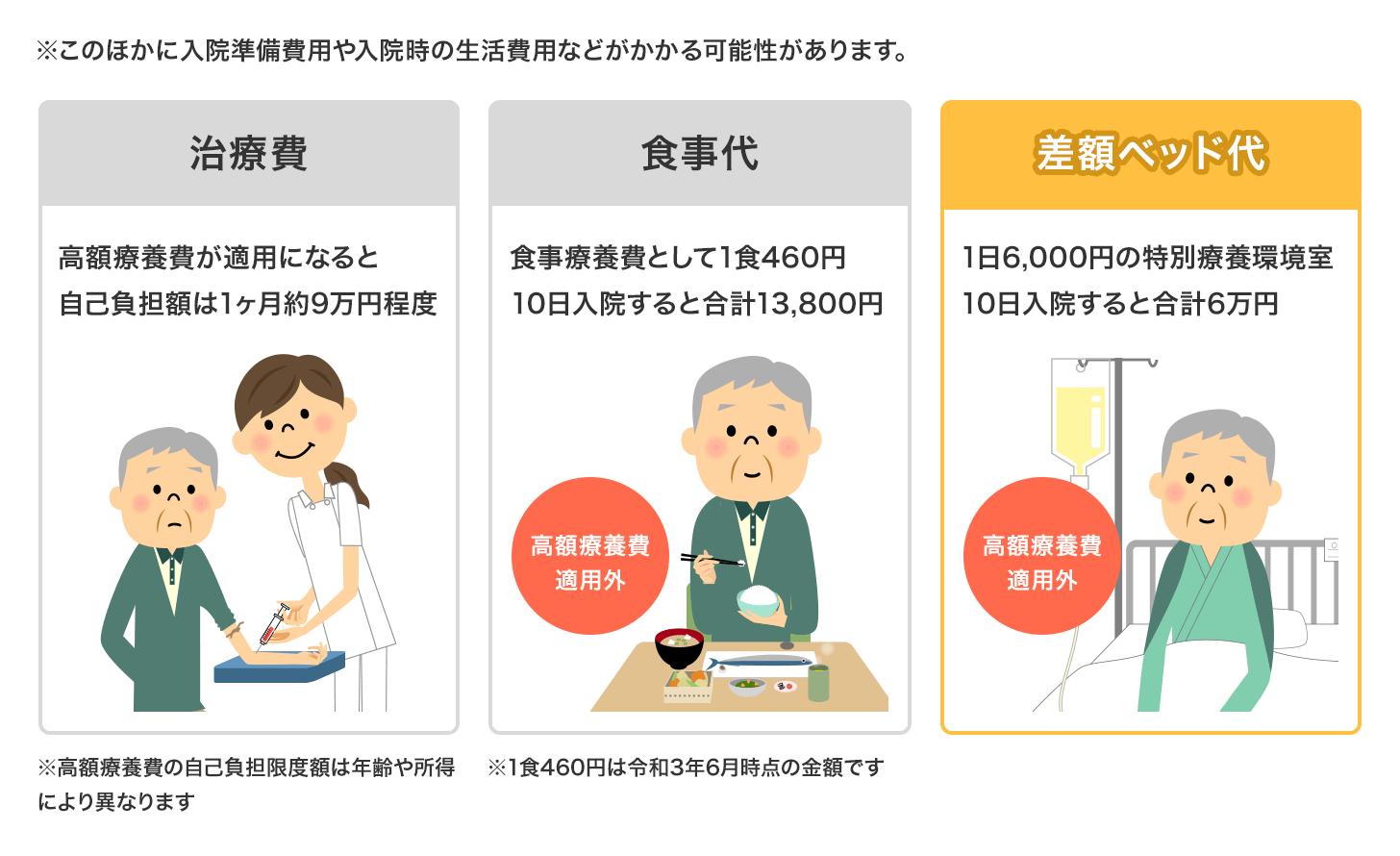 10日間入院した場合のイメージ図