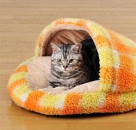 寝袋型 猫用ベッド
