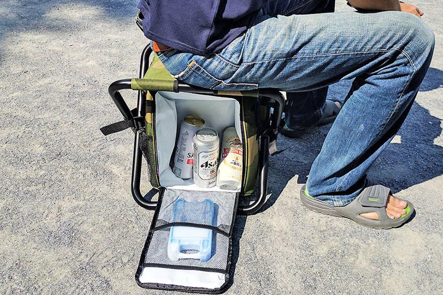 フェスや行列に! 椅子付きの保冷バッグがこの夏大活躍!