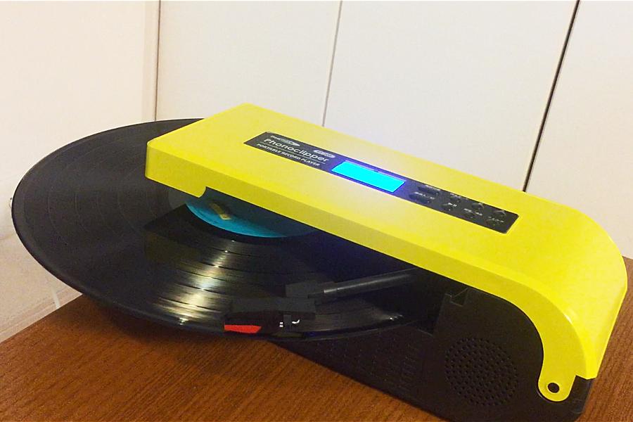 """""""持ち運べる""""レコードプレーヤーで、いつでもレコード聴き放題♪"""