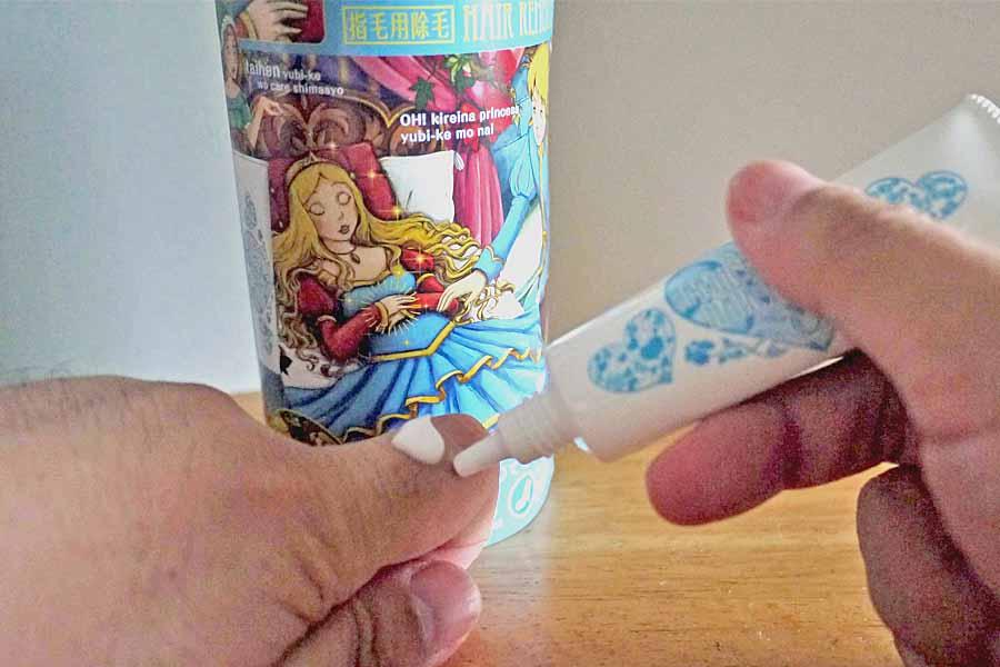 「指毛」専用の除毛クリームで、指輪からはみ出すムダ毛とおさらば!