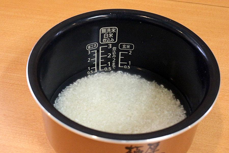 洗米 の 加減 無 水