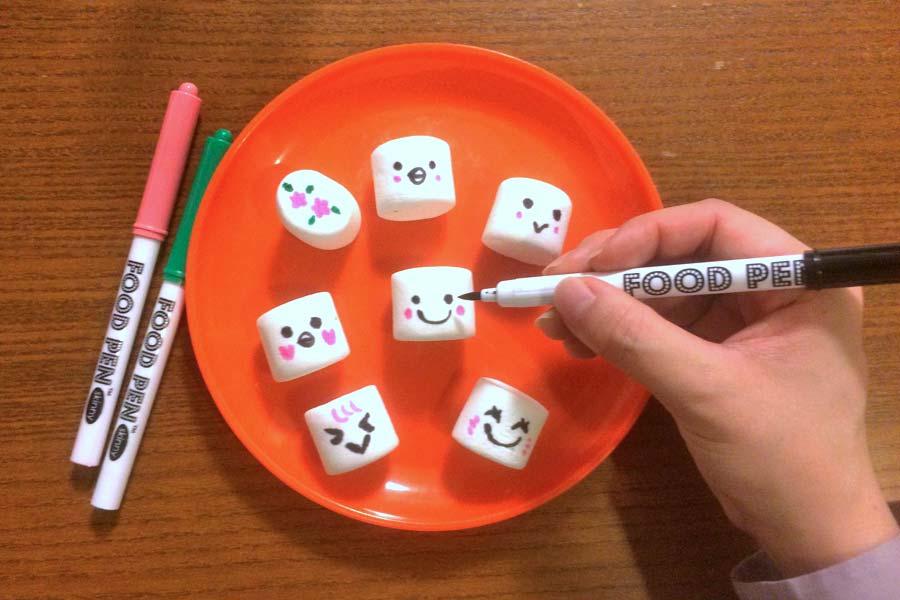 """簡単デコレーション♪ """"食べられるペン""""でお菓子にお絵描き!?"""