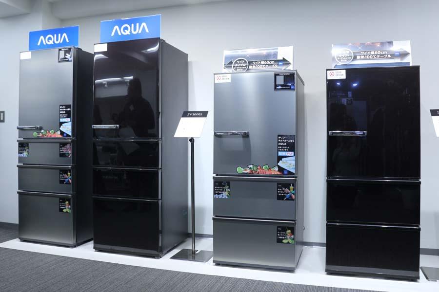 アクアから、食材の鮮度を守る「旬鮮チルド」搭載の冷凍冷蔵庫「SV」シリーズ登場