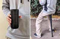 ポケットサイズの折りたたみイスを発見! これで長時間の行列もへっちゃら♪