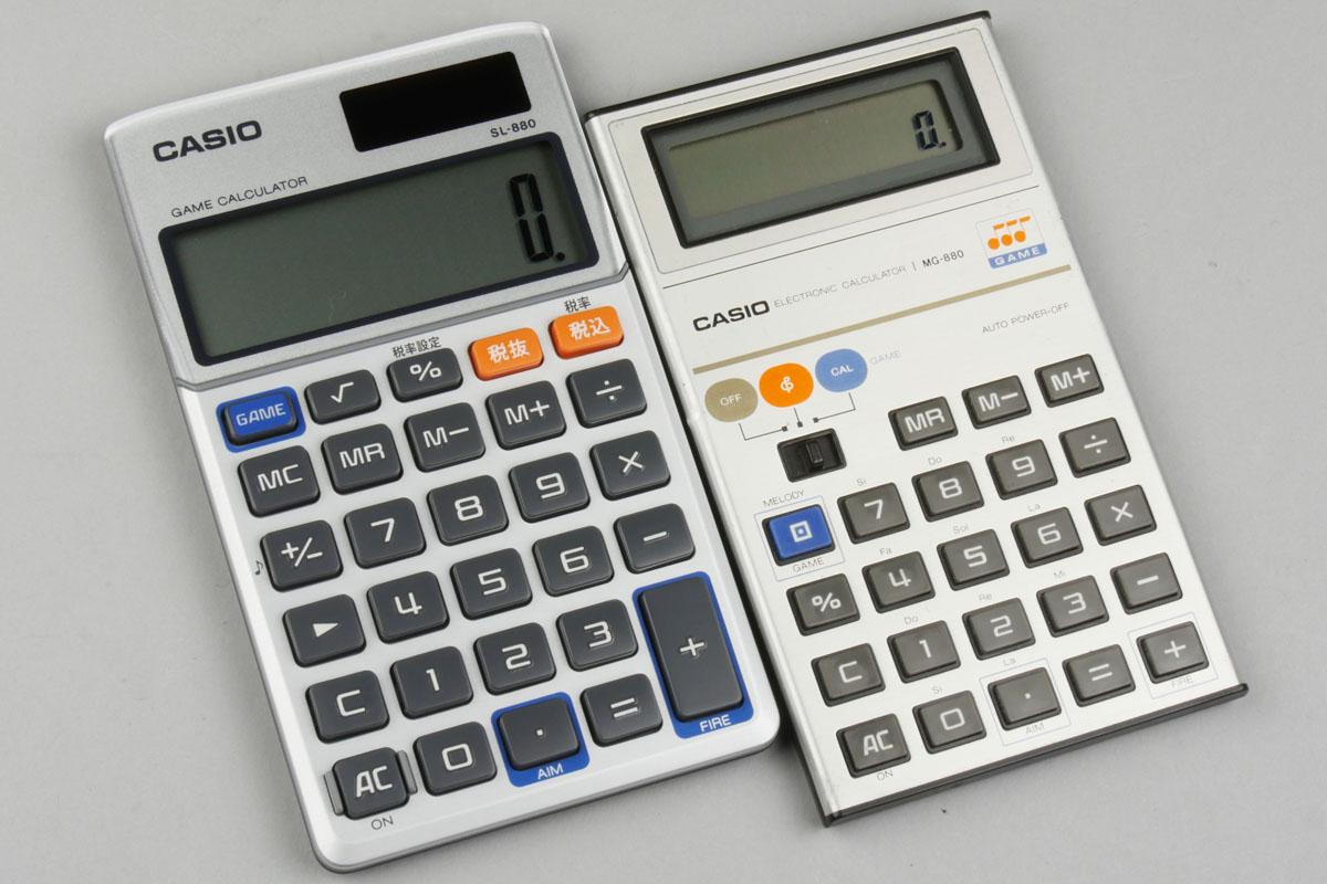 カシオから懐かしのゲーム電卓が復活。当時のモデルと比べながら遊ぶ