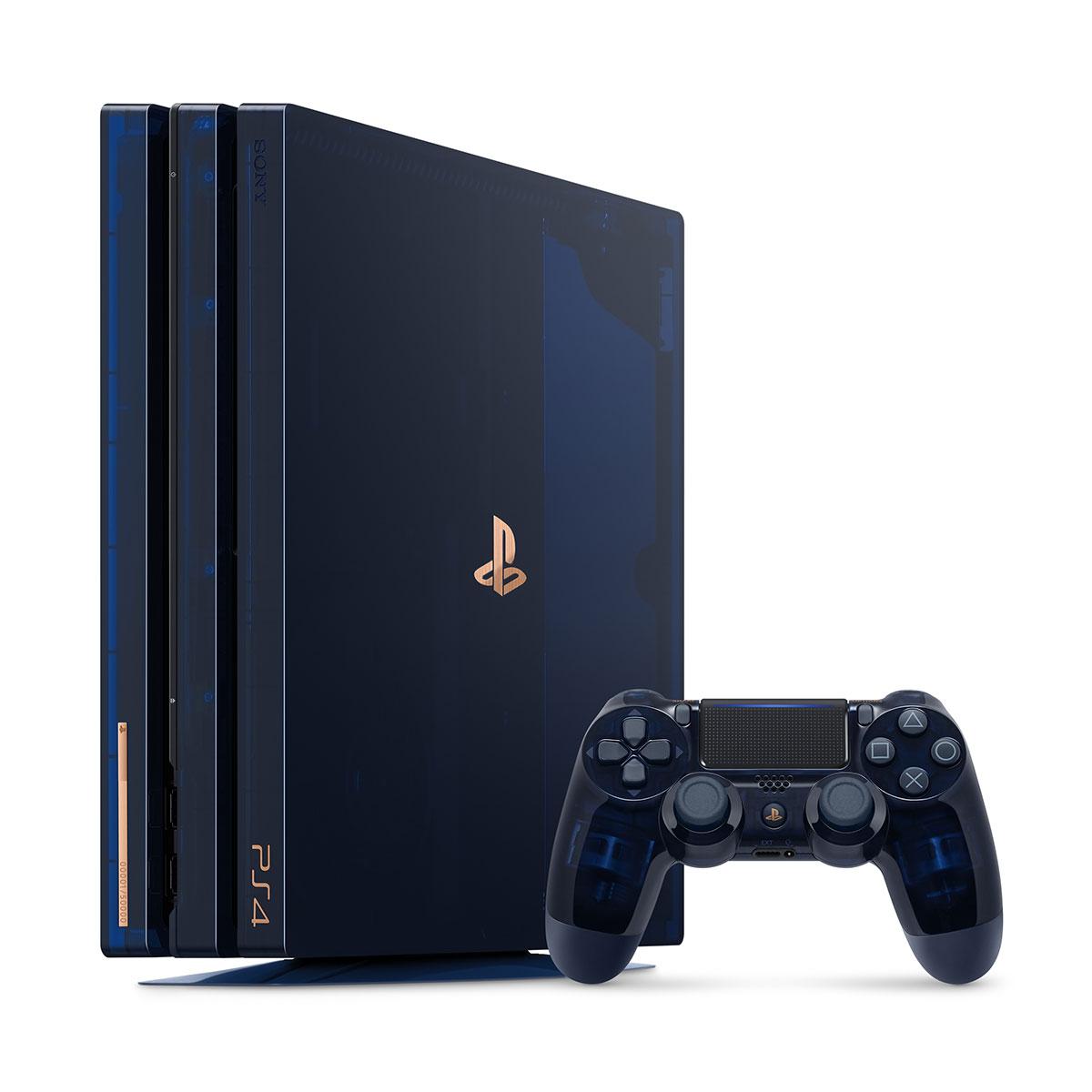 5億台突破記念で「PlayStation 4 Pro」の全世界5万台限定スケルトンモデルが登場