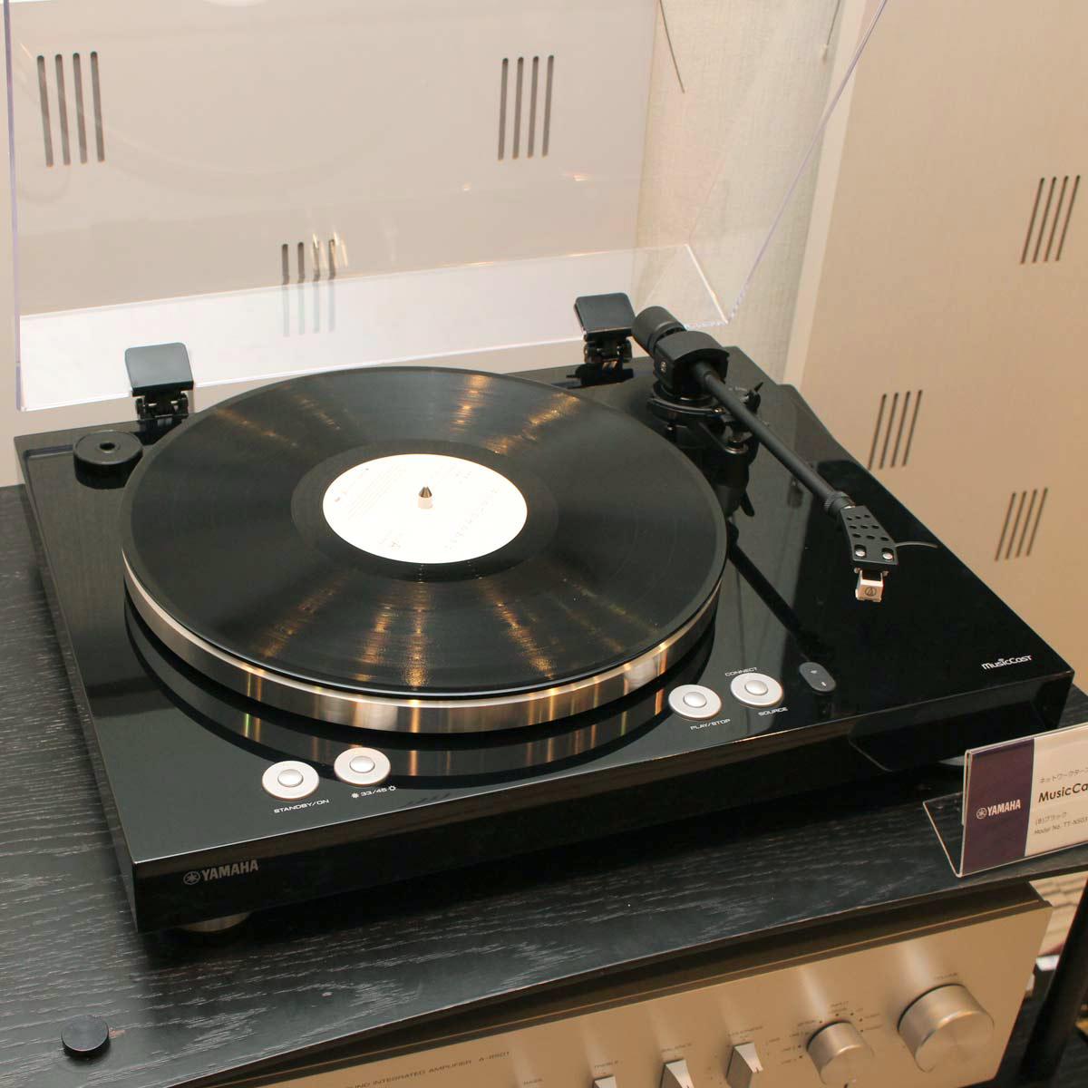 ヤマハからWi-Fiレコードプレーヤー「TT-N503」誕生! ネットワークハイレゾ再生も