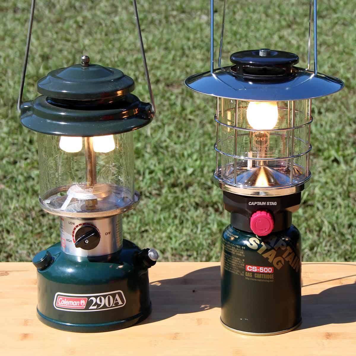 夜のキャンプサイトの必需品! 炎ゆらめく燃焼式と安全性の高いLED、どのランタンを選ぶ?