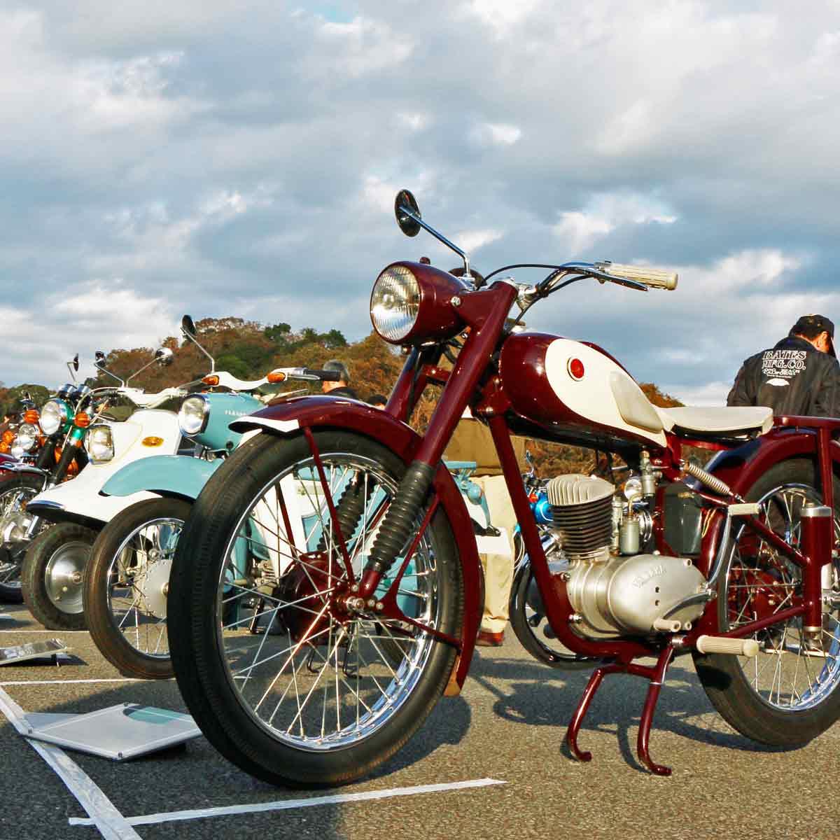 古きよき名車がずらり! ヤマハの歴史をなぞる数々のバイクを見て、あの頃を語ろう!!